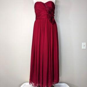 Marchesa Silk Chiffon Gown